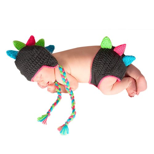 Little Hand Baby Boys' Girls Crochet Cap Beanie Diaper Cover Costume Photo Prop front-892525