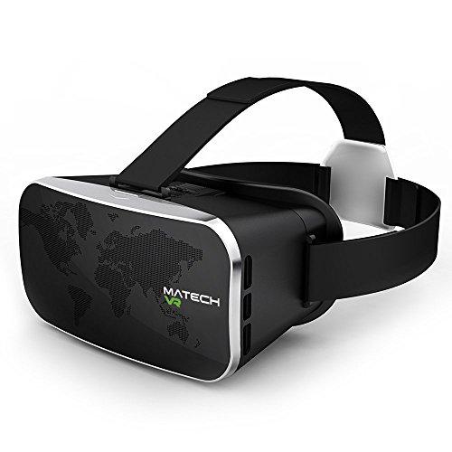 MATECH VR 2016年最新モデル 3D VRヘッドセット バーチャルリアリティ体験 高品質 両凸非球面レンズ採用 4.0 ~6.0インチのiPhone/Android 各種スマホに対応 [JAPANブランド] [日本語パッケージ品] (1年保証) MA3DVR16