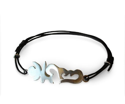 Spiritual Leather and Sterling Silver Karma Accelerator OHM Bracelet