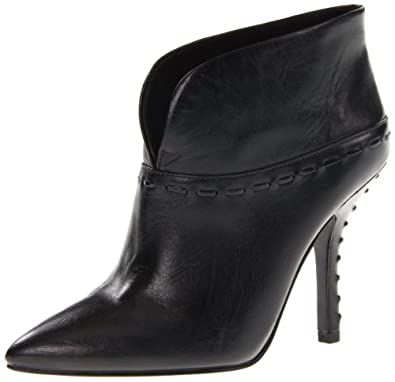 Nine West Women's Beenthinkn Ankle Boot,Black Leather,7 M US