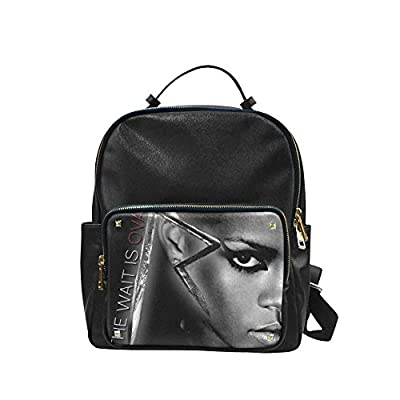 DOROT Famous Female Singer Rihanna Logo Unisex Leisure Backpack School Leisure Shoulder Bag