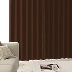 完全遮光生地使用 防音 断熱カーテン 「CALM」 サイズ:(幅)100×(丈)200cm 2枚組 色:ブラウン