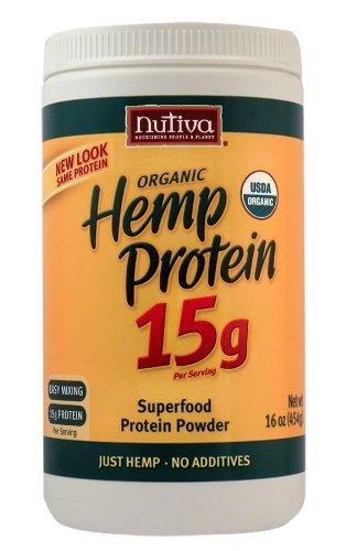 Nutiva Organic Hemp Protein 15G, 16 ounce canister