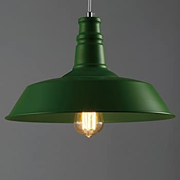 BAYCHEER HL371752 Industrial Vintage Retro Edison style Iron Barn Loft Pendant Light Lamp Chandelier with 1 Light