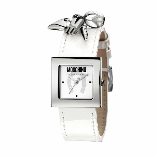Moschino MW0026 Ladies 'Time For Pendant' White Strap Watch