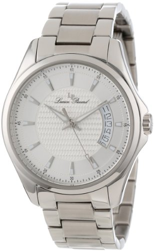 Lucien Piccard Men's 98660-22S Excalibur Silver Textured Dial Stainless Steel Watch