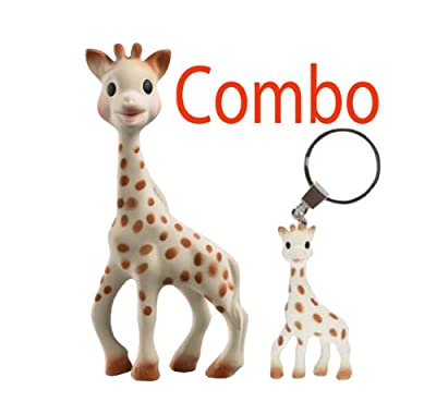 Sophie the Giraffe Teether with Gift Box also comes with sophie the giraffe key ring