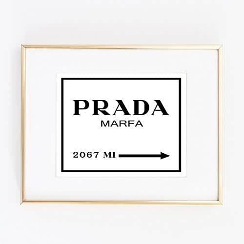 print prada marfa from ny distance color black and white poster 0021 omg products. Black Bedroom Furniture Sets. Home Design Ideas