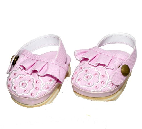 BUYS BY BELLA Pink Canvas Clogs for 18 Inch Dolls Like American Girl