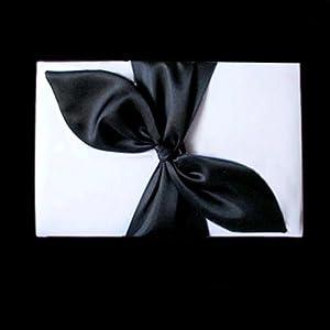 Black Satin Bow White Wedding Bridal Reception Guest Book