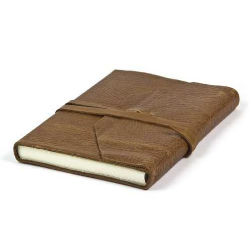 Deluxe Leather Journal Hand Made In Italy, 6x8 inch (Light Brown) (Leather Journal Made In Italy compare prices)