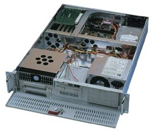 DIGITUS 2U RACKMOUNT SERVER CASE 1 PSU **19in Rack mountable case for ATX motherboard, 300W PSU, Heavy Duty 1.2mm Steel Construction, Front mounted Cooling Fan & Filter, Lockable Front Door, Dimensions: 606 x 422 x 89 mm, Drive Bays: 1 x 5.25 in, 5 x 3.5in, Colour: Black** AIPC-2S100B-300W
