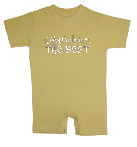 So Relative! My Uncle Is The Best Baby T-Shirt Romper (Yellow, 6 Months) front-107586