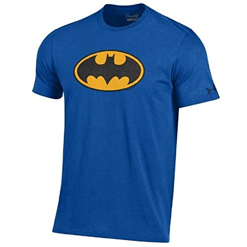 Under Armour Men's-Alter Ego-Batman-Charged Cotton-Performance T-Shirt-Royal Blue/Black and Yellow Shield-XL