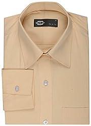 Koutons Men's Formal Shirt (HD-210--38, Yellow, 38)