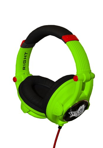 Fischer Audio Wicked Queen Bright Green Headphones With Excellent Sound Quality With Flexible Bass Response