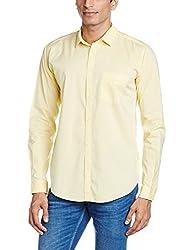 Basics Men's Casual Shirt (8907554063142_16BSH34276_Large_Yellow)