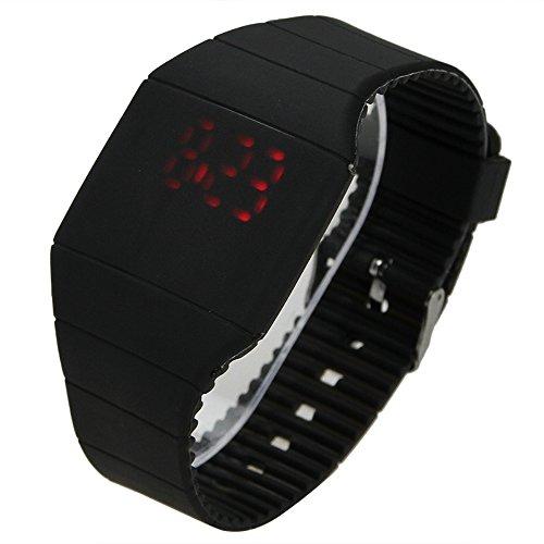 Muchbuy Hot Fashion Stylish Touch Screen Ultra-Thin Led Digital Sports Wristwatch (Black)
