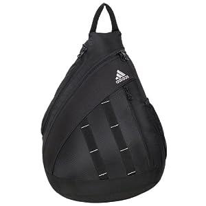 adidas Shermer Sling Backpack, Black, 19 1/4x14x7-Inch