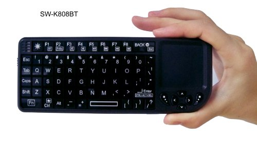 Bluetooth Mini Wireless Keyboard with 	Built-in TouchPad for iPad, PS3 & more