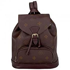 Gigi ChantalTM Brown Backpack Purse