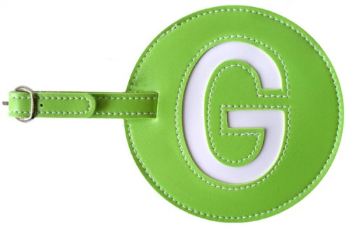 Luggage Tag Initial pb Travel GREEN G