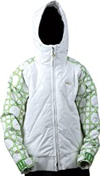 Foursquare Candy Ski Snowboard Jacket White Youth Sz XL