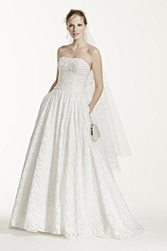 Lace Ball Gown Wedding Dress with Intricate Embroidered Details Style WG3512,...