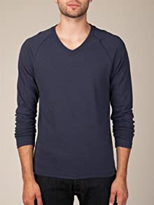 Long-Sleeve Raglan V-Neck