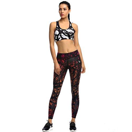 2-Fitness Women Fitness Pants Fuchsia/Bright Citrus M