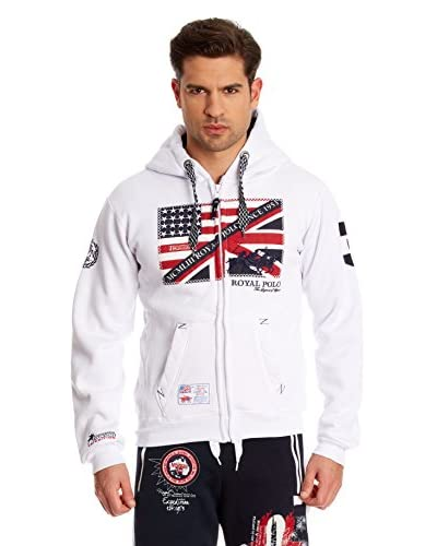 Geographical Norway Giacca Felpa Fitsh [Bianco]