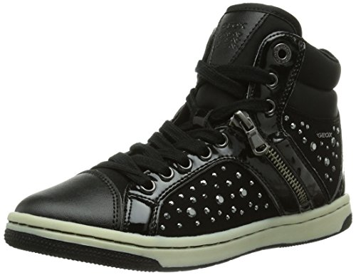 Geox JR CREAMY, Sneaker a collo alto Bambina, Nero (Schwarz (BLACKC9999)), 33 (1 uk)