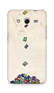 AMEZ designer printed 3d premium high quality back case cover for Samsung Galaxy Core 2 (money smileys )