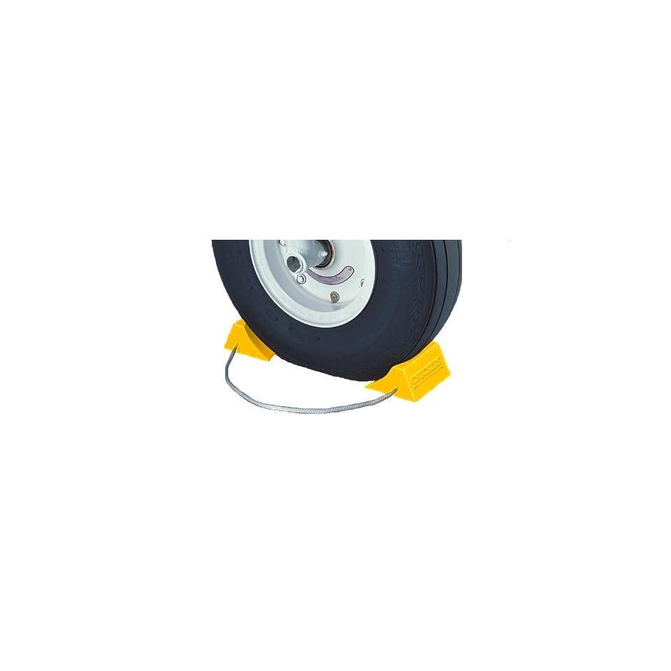5.5 Length x 4.5 Width x 2.75 Height Tigerchocks AC201 Urethane Lightweight Commercial Aviation Wheel Chock Yellow