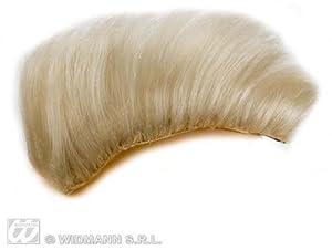 Blonde Clip On Punk Mohawk Hair Piece Wig - A Team Rocker Fancy Dress