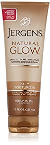 Jergens Glow Daily Moisturizer Med to Tan 7.5 Ounce Packaging