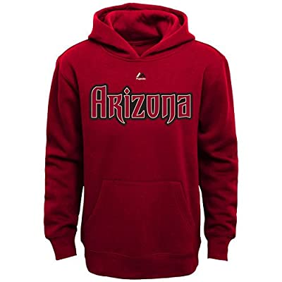 Arizona Diamondbacks MLB Youth Team Wordmark Pullover Hooded Fleece