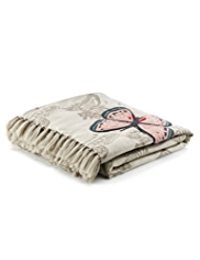 Butterfly Embroidered Throw