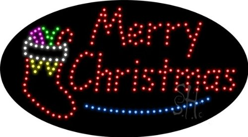 "Merry Christmas Animated Led Sign 15"" Tall X 27"" Wide X 1"" Deep"