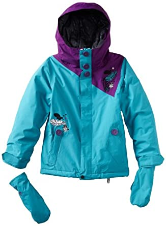 Volcom Big Girls'  Poppins Insulated Jacket, Sky, Large