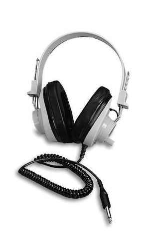 Califone Deluxe Monaural Headphones With Replaceable Coiled Cord
