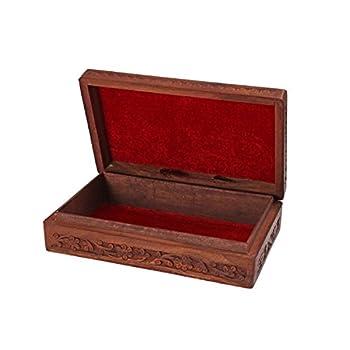 Christmas Gift Intricate Wooden Jewelry Box Organizer - 10 x 6