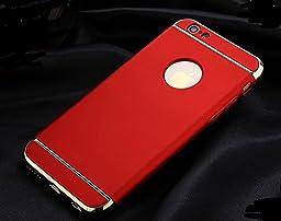 Platinum Series Ultra Slim Scratch Proof Polycarbonate Metallic Hard Case For Apple iPhone 6 Plus/ 6S Plus-Red
