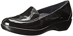 Dansko Women\'s Debra Slip-On Loafer,Black Crinkle Patent,38 EU/7.5-8 M US