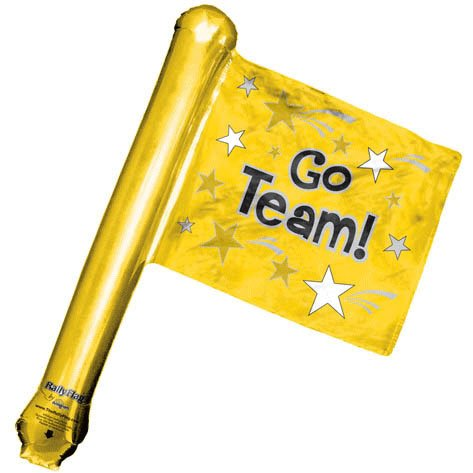 Go Team Gold Rally Flag Shape