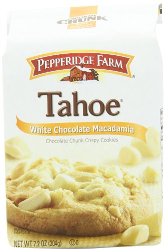 Pepperidge Farm Chocolate Chunk Crispy Cookies, Tahoe White Chocolate Macadamia, 7.2-ounce bag (pack of 4)
