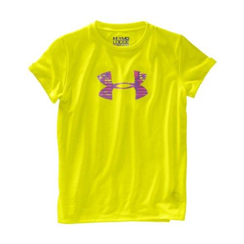 Girls' UA Big Logo Short Sleeve T-Shirt Tops by Under Armour YXL High-Vis Yellow