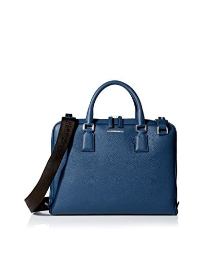 Ermenegildo Zegna Men's Briefcase Bag, Indigo