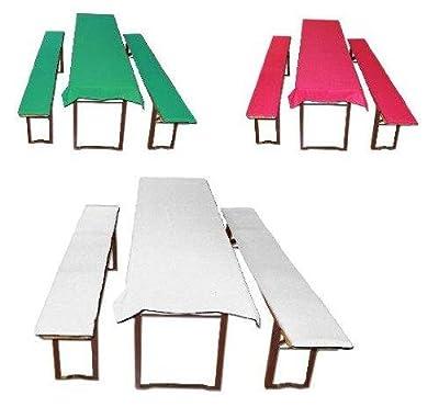 Bierbankauflagen gepolstert + Tischdecke 3 tlg verschiedene Farben und Muster von FTS Exclusiv - Gartenmöbel von Du und Dein Garten