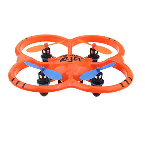 Kkmoon New Arrival U207 6 Axis Gyro 4Ch Radio Controll Mini Orange Quadcopter Ufo Toys W/ Led Lights